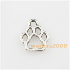 70Pcs Tibetan Silver Tone Tiny Bear/'s-paws Charms Pendants 11x13mm