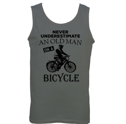 Never Underestimate An Old Man With A Bicycle Mens Funny Cycling Vest Bike