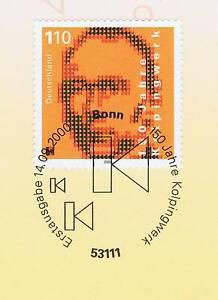 Inquiet Rfa 2000: Kolpingwerk 150 Ans! Nº 2135 Avec Bonner Ersttags Cachet! 1a! 1511-l! 1a! 1511fr-fr Afficher Le Titre D'origine