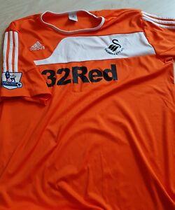 uk availability 139cf d7045 Details about Swansea City Away Shirt Orange XXL Adidas with Premier League  badges