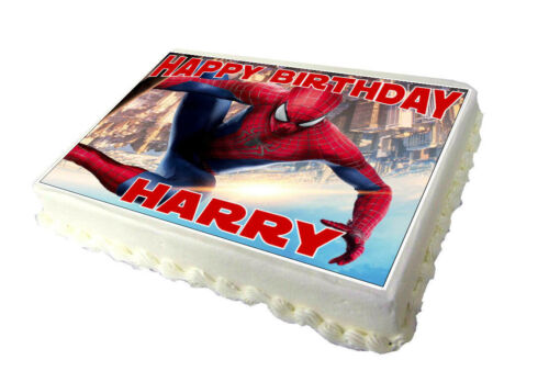 High Quality Edible Icing Spiderman A4 Birthday Cake Topper