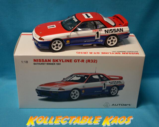 1:18 AutoArt - 1991 Bathurst Win 1000 - Nissan GTR R32 - Richard/Skaife  NEW