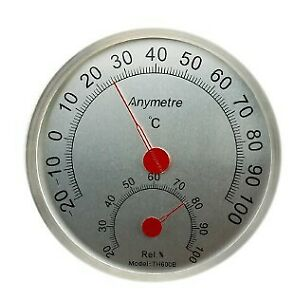 Anymetre TH-600B Stainless Steel Temperature Humidity Hygrometer Gauge R