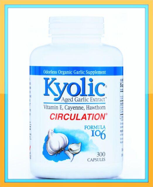 300 Capsules KYOLIC Aged Garlic Extract CIRCULATION Formula 106