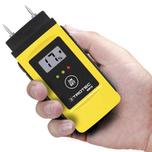 TROTEC Feuchtemessgerät BM18Feuchtemesser Feuchtigkeitsmessgerät Holzfeuchte