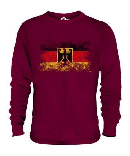 GERMANY STATE DISTRESSED FLAG UNISEX SWEATER DEUTSCHLAND FOOTBALL GERMAN SHIRT