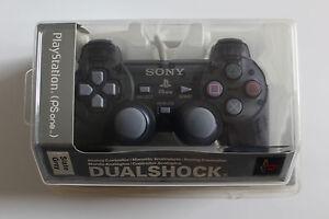 Original-Sony-Playstation-1-Dualshock-Controller-SCPH-110-Grau-Schiefergrau-NEU