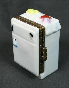Herco Hinged Porcelain Trinket Box Refrigerator NIB