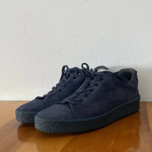 Eytys Blue Suede Sneakers Shoe Women size 42 (10.5