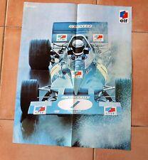 Poster TYRELL FORD FORMULE 1 Jackie Stewart au grand prix du Mexique 1971