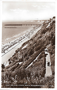 024 East Zig Zag Lower walk Bournemouth VGC Posted 1952 RP - <span itemprop='availableAtOrFrom'>Shoreham-by-Sea, United Kingdom</span> - 024 East Zig Zag Lower walk Bournemouth VGC Posted 1952 RP - Shoreham-by-Sea, United Kingdom