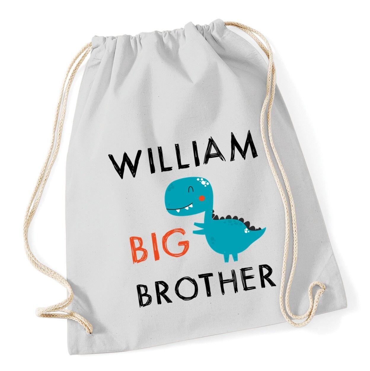 I/'M THE BIG BROTHER Gymsac Funny Printed Boys Blue Bag School PE Sports