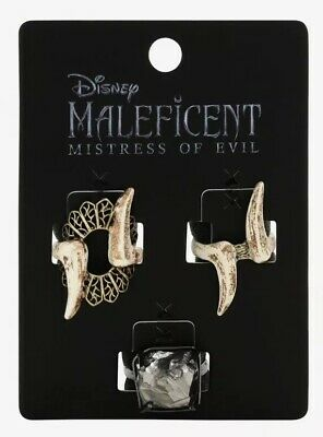 Disney Maleficent Mistress Of Evil Bone And Stone 3 Ring Set Size 7 Ebay