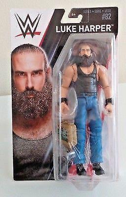 LUKE HARPER WWE Mattel Basic Series 82 avec de l/'argent dans la banque Case-Endommagé Pkg