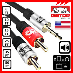 AUX-Auxiliary-3-5mm-Audio-Plug-Male-to-2-RCA-Plug-Male-Stereo-Cable-Cord-Iphone