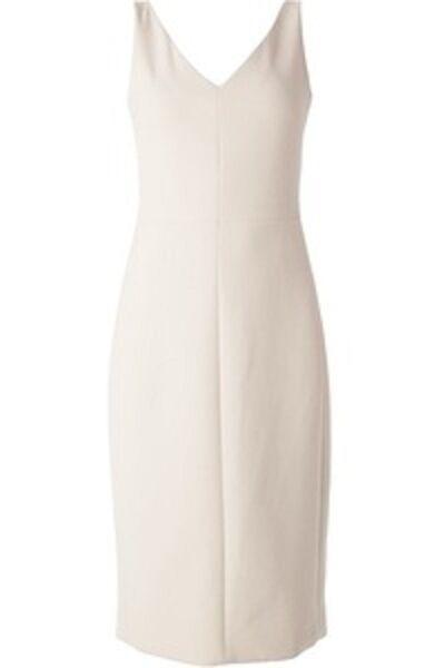1590 Nueva la fila Stretch Crepe  shizzie Invierno Arroz blancoo Vestido Midi 6 8  compra limitada