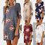 Women-Ladies-Floral-Long-Tops-Blouse-Summer-Beach-Tunic-Boho-Dress-Plus-Size-New thumbnail 9