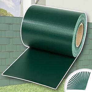pvc sichtschutz streifen sichtschutzfolie doppelstabmatten zaun schutz 35m gr n ebay. Black Bedroom Furniture Sets. Home Design Ideas