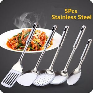 '5PCS-Stainless-Steel-Kitchen-Utensil-Set-Cooking-Serving-Tool-Spoon-Spatula-Home' from the web at 'https://i.ebayimg.com/images/g/z9MAAOSwmBhaAVnP/s-l300.jpg'