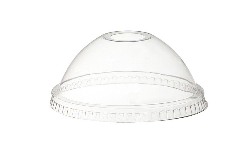 2000 x x x 9oz Clear Plastic Smoothie Cups + Dome Slot Lids Milkshake Cold Drinks 846f22
