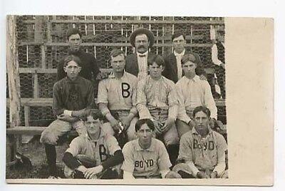 Konstruktiv Boyd Wi Baseball Team 1906 Rppc Echt Foto Postkarte Baseball & Softball