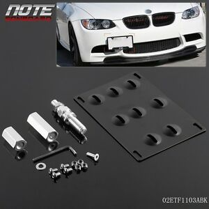 Front-Bumper-Tow-Hook-License-Plate-Mounting-Bracket-Holder-For-BMW-1-3-X5-X6