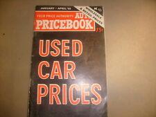 1965 Used Car Prices Book Jan-April 65 Auto Pricebook  Rare  / b6