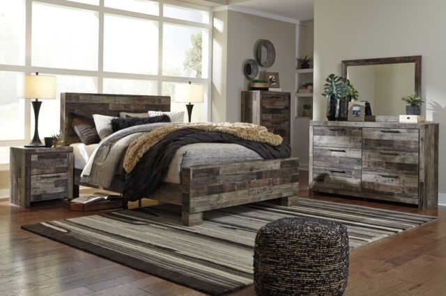 Ashley Furniture Shellington 6 Piece Queen Mansion Bed Set For
