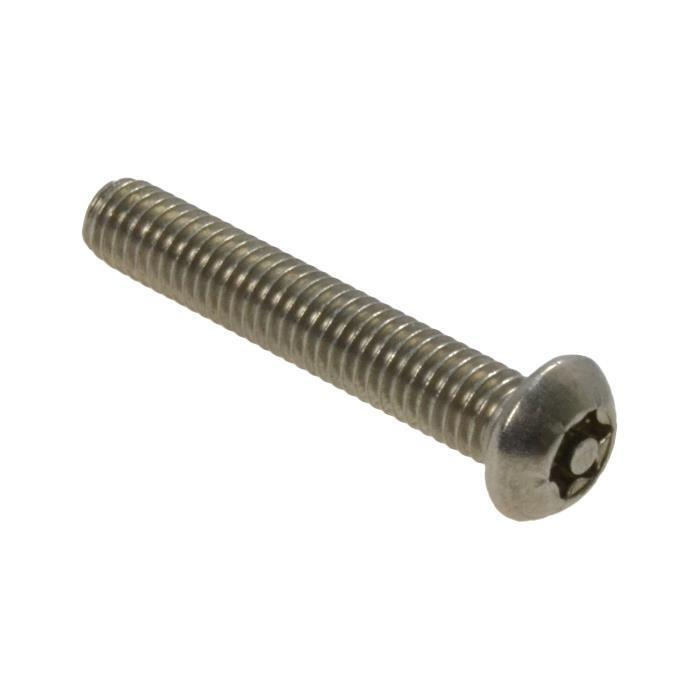 Qty 10 Button Post Torx M4 x 10mm Stainless T20 Security Screw Tamperproof 304