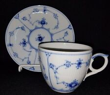 Royal Copenhagen BLUE FLUTED PLAIN (#78) - Oversized Cup & Saucer