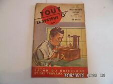 SYSTEME D N°82 10/1952 SCIE A DECOUPER ELECTRIQUE PISTOLET LANCE FLECHES   H69