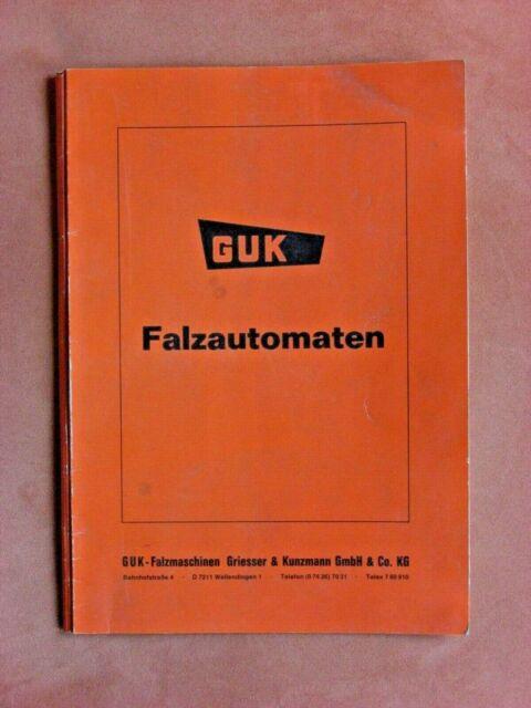 Betriebsanleitung FA 35/2 R1 AS/35 AUTOMATIC 720 GUK Falzautomaten Falzmaschine