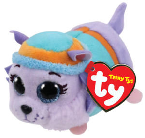"""Ty Beanie Boos 4/"""" Teeny Tys Paw Patrol EVEREST w// Ty Heart Tags MWMT/'s Stackable"""