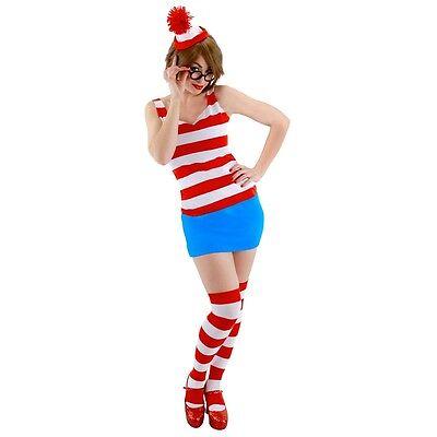 Wenda Costume Adult Where's Waldo Sexy & Funny Halloween Fancy Dress