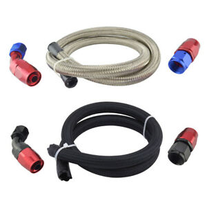 3-3ft-Braided-Oil-Fuel-Hose-Line-4-6-8-10-12AN-Swivel-Seal-Hose-End-Fitting-Kit