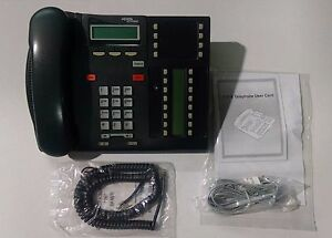 Nortel Norstar T7316 telephone - pro refurbished phone with lit pack, new cords