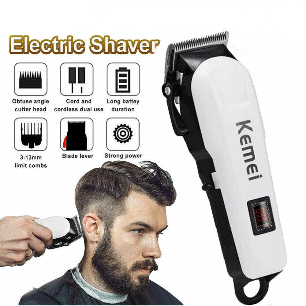 Electric Kemei Pro Hair Clipper Shaving Machine Razor Trimme