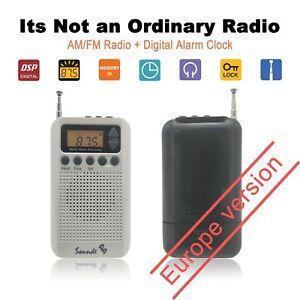 Portable-Pocket-AM-FM-Radio-Mini-Alarm-Clock-And-Sleep-Timer-Digital-SoundsB-EW