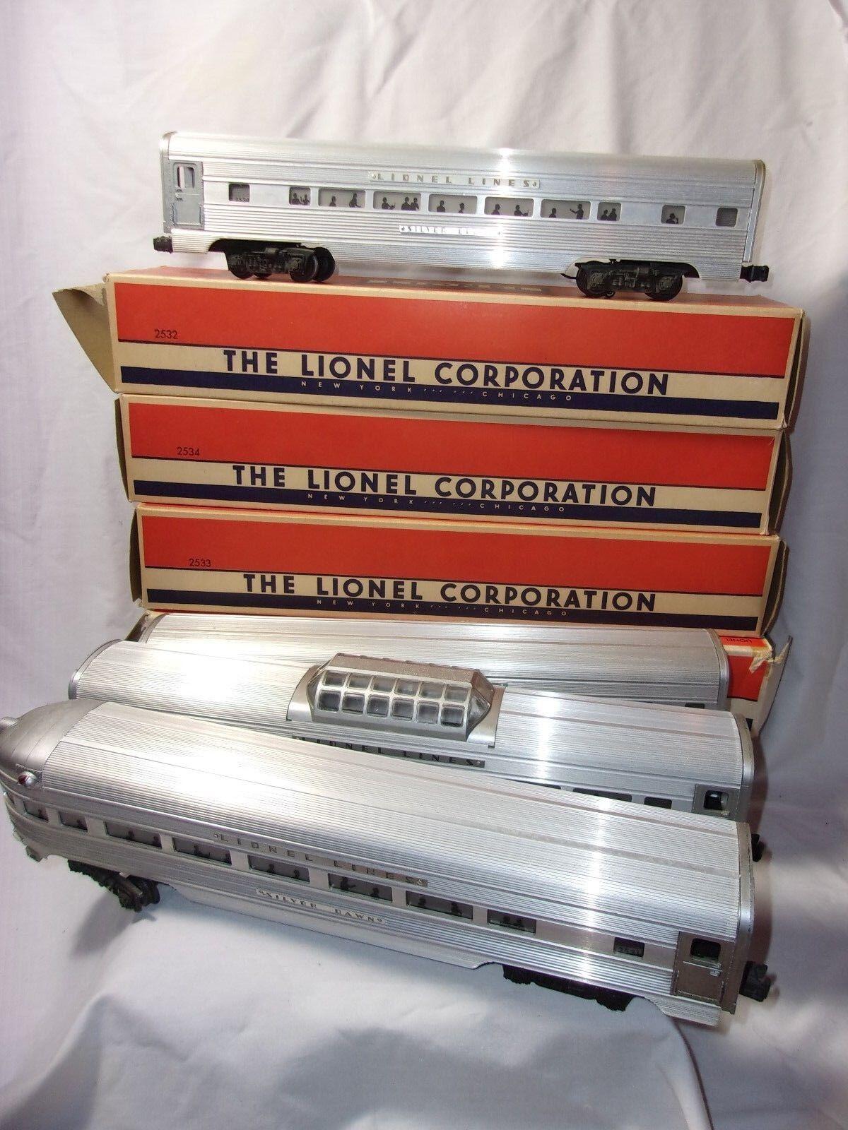 Vintage Lionel i treni Passenger auto 2531 2533 2532 2534 Original scatola O Gauge  T