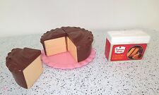 Fisher Price Fun with Food 4 Pc Cake & Frostings Fancy Plate Cake Box   Lot M8