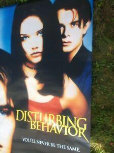 DISTURBING BEHAVIOR(1998)KATIE HOLMES ORIG VINYL BANNER DOUBLE SIDED NICE!