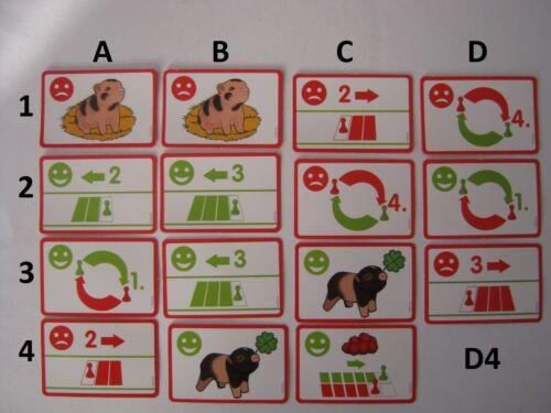 Schleich 1 Ersatzkarte aus 97052 Wettrennen auf dem Bauernhof Farm World  ..10g Tiere & Dinosaurier