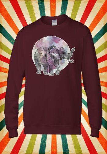 Elefante Arte Disegno Arcobaleno Novità Uomini Donne Unisex Top Felpa Con Cappuccio Felpa 1568