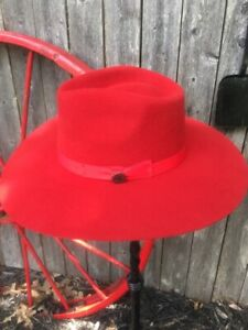 CHARLIE Fedora ~ Highway ~ RED~ Women's Wool Western Hat - VIVIFY™ - w/feather