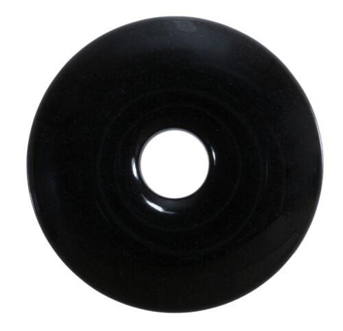Onyx schwarz Donut Anhänger Edelstein 30 mm Scheibenstein Pi Stein Heilstein