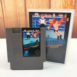 Pro-Wrestling-Nintendo-NES-In-Plastic-Box-Case-VTG-Retro-Free-Shipping