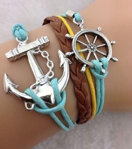 Leather Wrap Bracelet 80+ Designs Friendship Infinity Peace Anchor Love Owl Bird