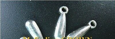100 Pcs Tibetan Silver solid teardrop drops 17mm FC13