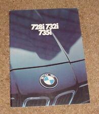 BMW 7 Series E23 Brochure 728I 732I 735I 1980