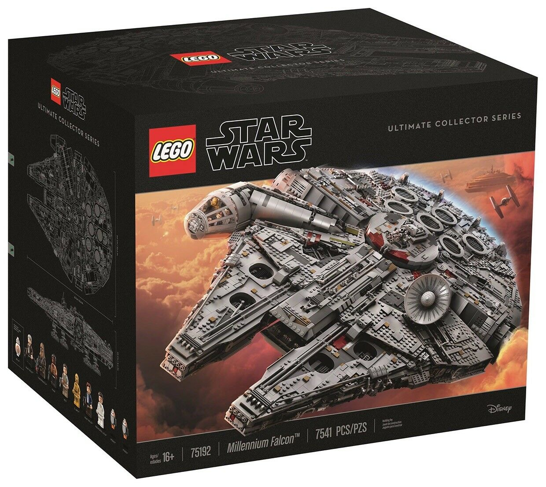 Lego UCS Millenium Falcon, Scarif stormtrooper, buildable R2 D2,and rare booklet